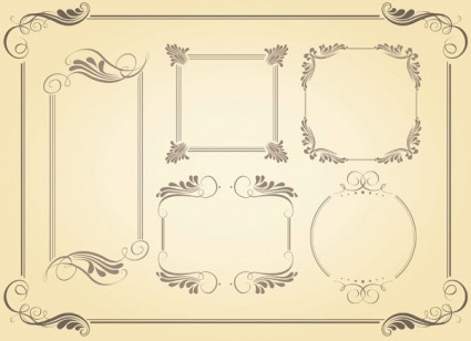 Simple Frame Vector Pack Ai Svg Eps Vector Free Download