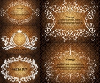 European Gorgeous Lace Pattern Vector Background
