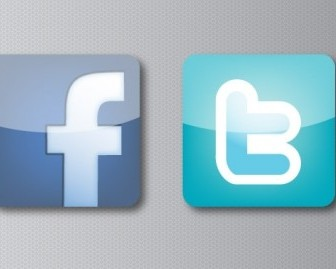 Facebook And Twitter Icons Vector
