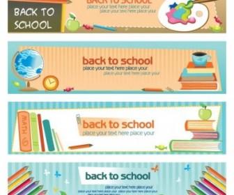 Education Theme Banner Design Template Vector Illustration