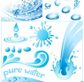 3 Cool Water Theme Vector Graphics