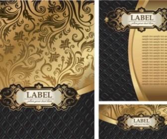 Golden European Gorgeous Pattern Vector Background