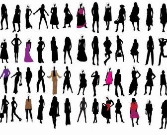 Silhouette Fashion Girls Vector Pack