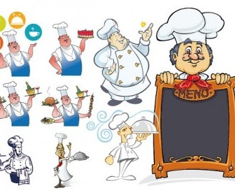 Chef Series Vector Cartoon Style