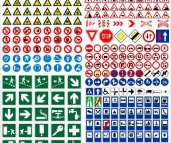 Road Traffic Signs Vector Pack