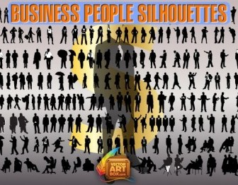 Business People Silhouettes Vector Illustration Pack