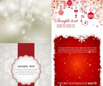 Beautiful Christmas Background Card Vector Template