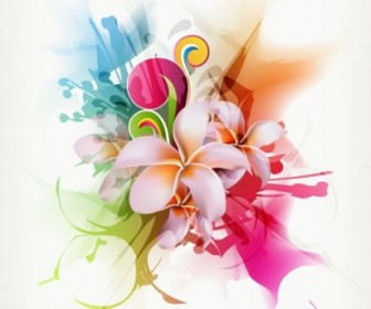 Floral Vector Illustration Abstract Vector