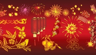 Chinese New Year Celebration Background Vector