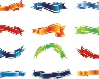 Set Of Colorful Ribbons Vector Pack