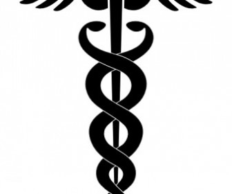 Caduceus Vector Clip Art