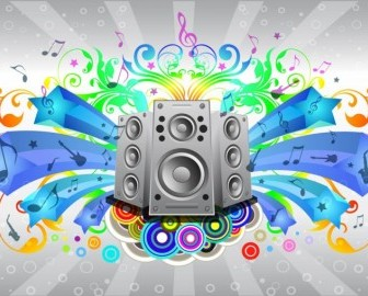 Music Sound System Vector Misc