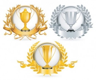 Yellow Gold Trophy Vector