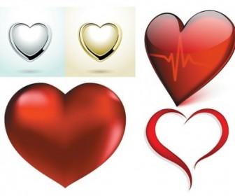 A Few Red Heart Vector