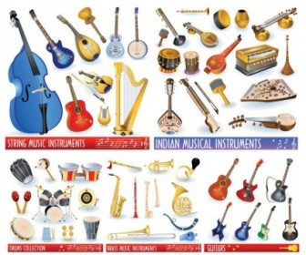 A Variety Of Musical Instruments Vector Pack