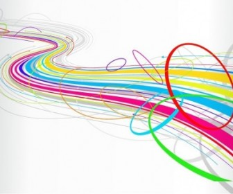 Abstract Colorful Wave Line Vector Background