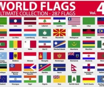 National Or Regional Flag and Regional Flag Vector Pack