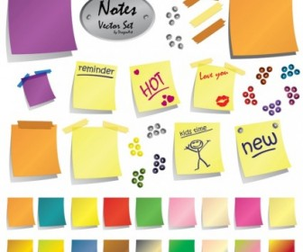 Post-It Notes Vector Graphics
