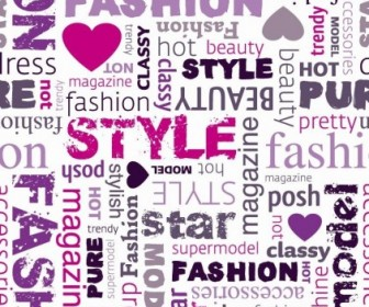 Fashion Word Collage Vector Illustration
