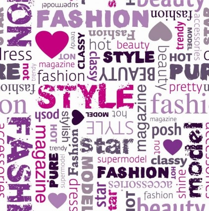 Fashion Word Collage Vector Illustration Ai Svg Eps
