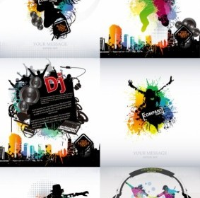 Vector Trend Of Music Posters