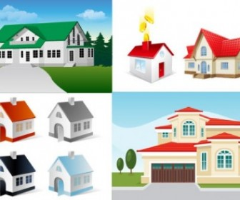 5 House Vector Illustration