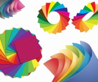 Paper Of Different Colors Vector Graphic Vector Misc