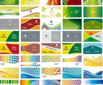 50 Business Card Background Vector Pack
