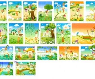 Clown The Landscape Vector Series