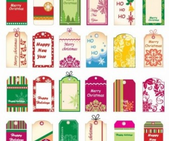 Christmas Tickets and Tags Vector Pack
