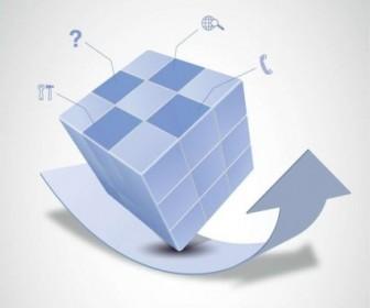 Vector Magic Cube And Design