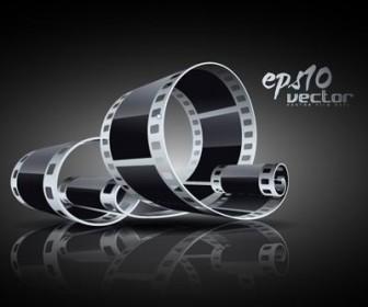 3D Black And White Film Clip Art