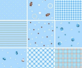 Seamless Plaid Patterns Vector Background
