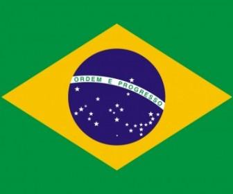 Brazil Flag Vector Clip Art