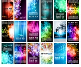 Brilliant Light Effects Dynamic Vector Business Cards Background