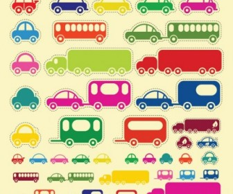 Vector Car Truck Buss Illustration Pack