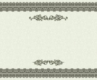 Vector Exquisite European Certificate Template Vintage Frame