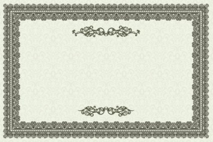 Vector exquisite european certificate template vintage frame ai preview this vector yadclub Images