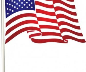 Usflag Clip Art Vector Illustration