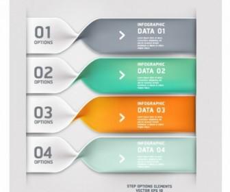 Spiral Infographics Modern Banner Vector
