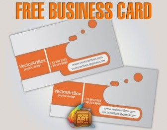 Free Orange Business Card Vector Template Pack