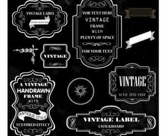 Chalk Frames Vector Labels Sticker