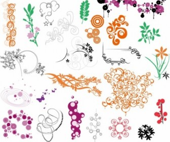 Nature Ornaments Texture Pattern for Vector Frame Collection
