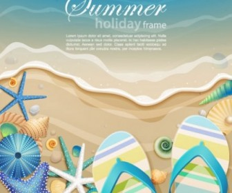 Ocean Background Cartoon Vector Illustration