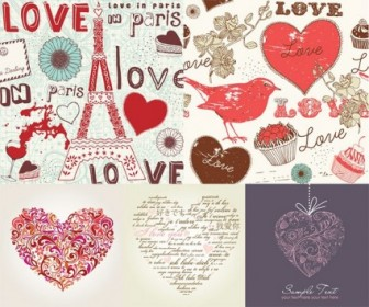 Vector Love Character Decoration Handpainted Style
