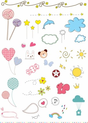 vector cute kid elements ai svg eps vector free download