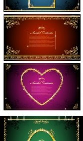 Vintage Gorgeous Gold Lace Border Vector Pack