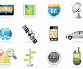 Navigation and Transport Icons Vector Icon Pack
