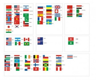 National Flags Vector Pack