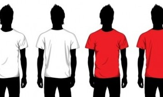 Boy T-shirt Template Vector Pack